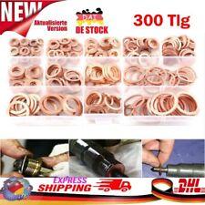 300 X Kupferringe Dichtring Sortiment Set Kupfer Dichtungen Ölablaßschrauben Box