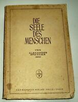 Die Seele des Menschen Alexander Pfähler Philosophie Theodor Lipp München 1933