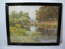 Vintage Picture Golf Players Village  Print by E.W. HASLEHUST