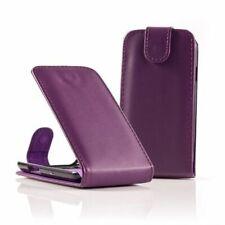 Housse coque étui cuir PU violet pour apple iphone 3g 3gs