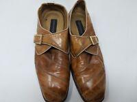 Vintage Giorgio Brutini Square Toe Strap Men's Brown Dress Shoes Size 11