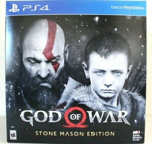 God of War Stone Mason's Edition PS4 New Sealed - Item As Pictured