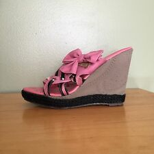 Jacobies Happy 5 Strappy Wedge Heels Women's Size 7.5