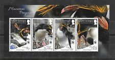 South Georgia and SSI 2017 NEW ISSUE Macaroni Peguins M/S  MNH