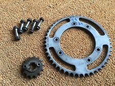 YAMAHA  XT125R  XT125 R  XT 125R   2009   FRONT & REAR SPROCKETS + BOLTS