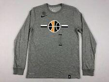 NEW Nike Utah Jazz - Men's Gray Dri-Fit Cotton Long Sleeve Shirt (M)