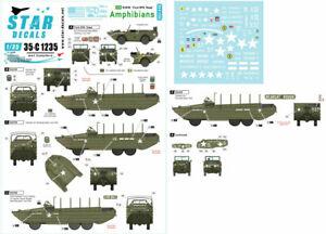 Star Decals for 1/35 US Amphibians. Ford GPA and DUKW. 75th-D-Day-Special