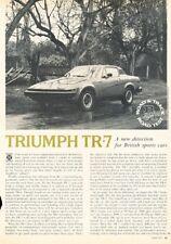 1975 1976 Triumph TR7 Original Del Coche Revisión Informe Estampado Artículo J60
