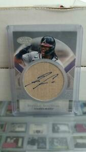 2021 Topps Tier One Perfect Contact Ronald Acuna Jr. On Card Bat Auto True 1/1