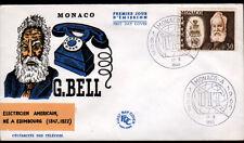 MONACO / G. BELL Electricien AMERICAIN / TELEPHONE U.I.T. / Enveloppe 1° JOUR