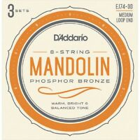 EJ74-3D 3 Sets D'Addario EJ74 11 40 Mandolin Strings Phosphor Bronze Medium J74