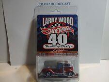 Hot Wheels Larry Woods 40 Years Orange Chrome Custom '38 Ford C.O.E. in Protecto