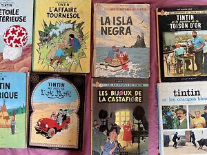 Lot de 8 BD Tintin - Editions anciennes très recherchées !