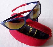 occhiali da sole BICI SPORT ZX346 marca GINGER colore blue stanghette rosse