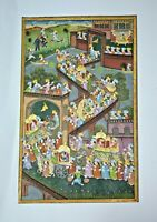 Prince Wedding Entry In The Palace Handmade Miniature Painting