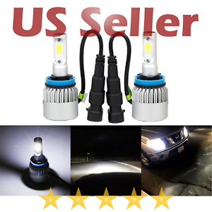Extremely Bright 8000 Lm H11 H8 COB LED Headlight for DRL Fog Light Bulb White