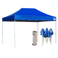 10X15 Blue EZ Pop Up Canopy Outdoor Trade Show Tent Party Instant Marquee Gazebo