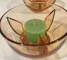 Bowl Candle Holder/Warmer 4 Pieces-Orange
