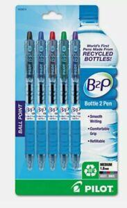 Pilot B2P Bottle-2-Pen Recycled Retractable Ballpoint Pen, Asst. - BROAD 1MM TIP
