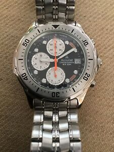 mens accurist chronograph watch