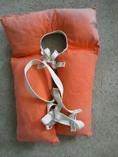 New listing Vintage Adult Sears Buoyant Vest Type I Cloth Orange Life Preserver home decor
