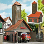 Busch 1453 Small Town Firehouse H0 Structure Scale Kit 1:87 HO
