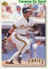 490 CURTIS WILKERSON PITTSBURGH PIRATES BASEBALL CARD UPPER DECK 1992