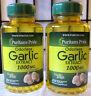 500 Sgel Puritan's Pride Odorless Garlic 1000mg Allicin Cholesterol Heart +Bonus