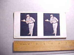 1925 BASEBALL LITHOPRINT STEREO VIEW CARD YALE COLLEGE PLAYER SHOWING BUNTING