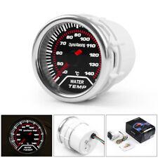"2"" 52mm Car LED Smoke Lens 40-150℃ Pointer Water Temp Temperature Gauge Meter"