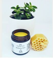 Meditation Balm Essential Oil Blend beeswax balm Yoga Aromatherapy so relaxing