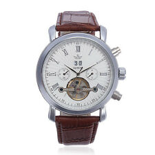 SEWOR Multifunction Leather Automatic Mechanical Men Wrist Watch