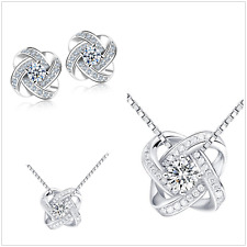 """Boxed UK""""Sparking Love"""" Sterling Silver Jewellery Set"""