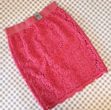 New Nwt Ann Taylor Petite Lace Pencil Skirt Soft Desert Rose 0P 0 XS X-small
