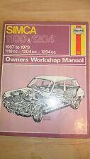 Simca 1100 & 1204 USED Haynes Workshop Service Repair Manual 1967-1974 (088)