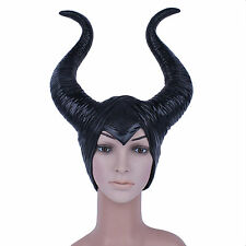 "Hot Womens Angelina Maleficent Movie Maleficent Latex 11.4""/29cm Horns Headpiece"