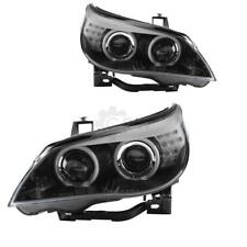 Design Xenon Scheinwerfer Set BMW E60 Bj. 03-04 klargl/schwarz CCFL LED DED