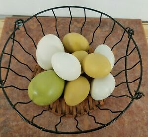 Artificial Nesting Eggs Fake Chicken Trainers House Decor 10Pcs Home See Picture