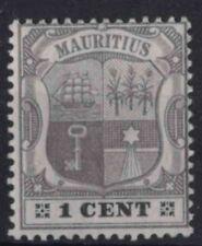 r366) Mauritius. 1904/07. MM.  SG 164 1c Grey & black. Emblems. c£8+