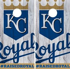 Kansas City Royals Cornhole Wrap MLB Logo Game Board Skin Set Vinyl Decal CO408