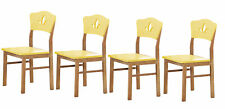 Kings Brand Furniture Dining Room Kitchen Side Chair, Yellow, Set of 4