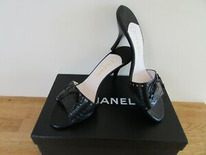 CHANEL MULES SHOES 5 EU 38 HEELS SANDALS SLIDES DESIGNER BOXED BAGS IMMACULATE