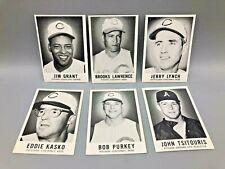 New listing 6 Vintage 1960 Leaf Cards w/ Jim Mudcat Grant Error Card Version Cincinnati Reds
