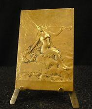 Medaille Damen Anmutig Geflügelt mit Trompete Par Delpech 83 G M Couhé 勋章