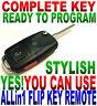 EURO STYLE FLIP KEY REMOTE FOR TOYOTA GQ43VT2OT CHIP-G KEYLESS ENTRY FOB CLICKER