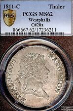 German States Westphalia 1811 C Mining Taler Coin Thaler NGC MS 62 F.Stg Deutsch