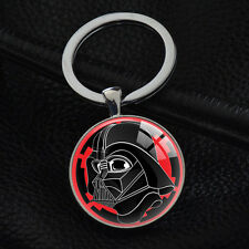 NEW Vintage Star Wars Darth Vader Keychains Silver Pendant Key Rings Key Chain