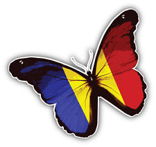 Chad Flag Butterfly Car Bumper Sticker Decal 5'' x 5''