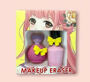 ANIME Boxed Beauty Makeup Puzzle Erasers Sets Kawaii Stationary School Supplies