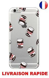 Coque Plastique Souple Housse Etui IPHONE SAMSUNG S7 S8 S8 PLUS Nutella Chocolat